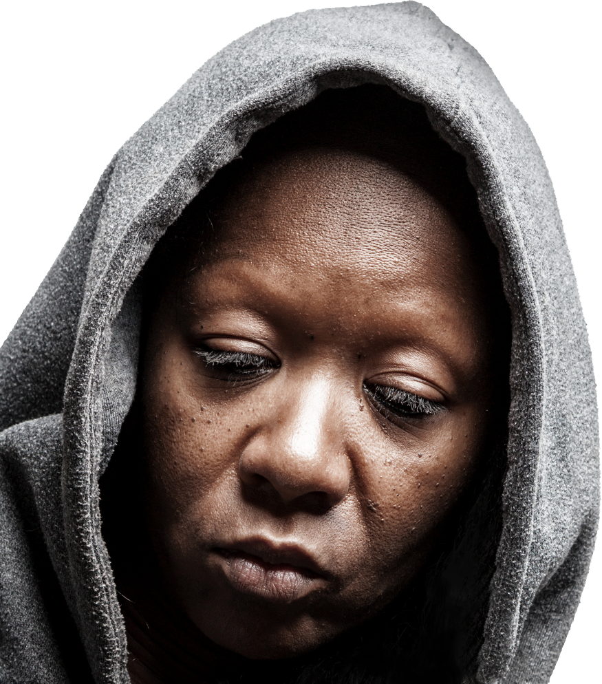 face of homeless woman - women's shelter indianapolis