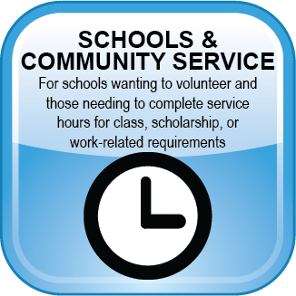 Volunteer Web Button Schools-Community Service