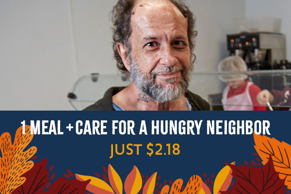 1 meal + care for a hungry neighbor