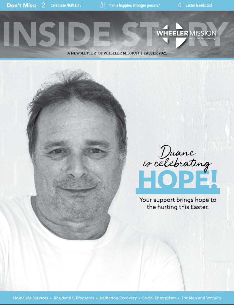 Duane is celebrating hope this Easter