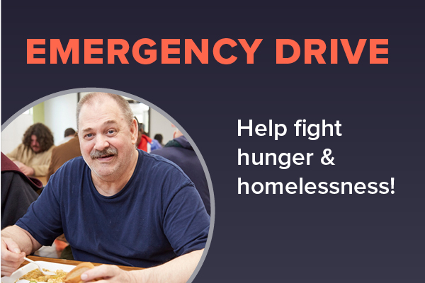 Help fight hunger and homelessness