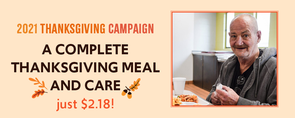 A complete Thanksgiving meal and care is just $2.18